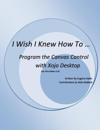Program the Canvas Control with Xojo Desktop