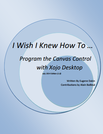 Program the Canvas Control with Xojo Desktop