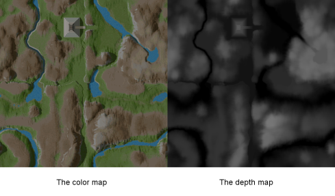 Example color and depth maps